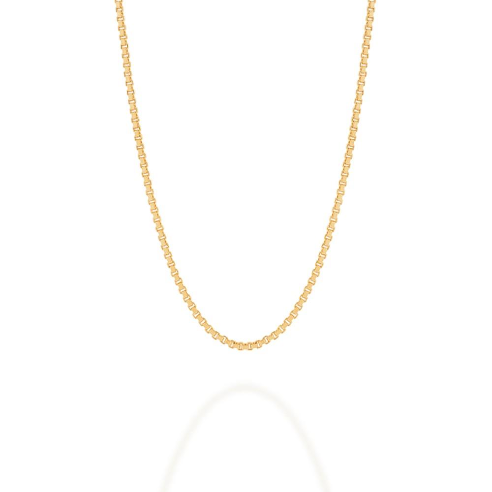 Gargantilha folheada a ouro fio veneziana rommanel 530164 med. 42 cm