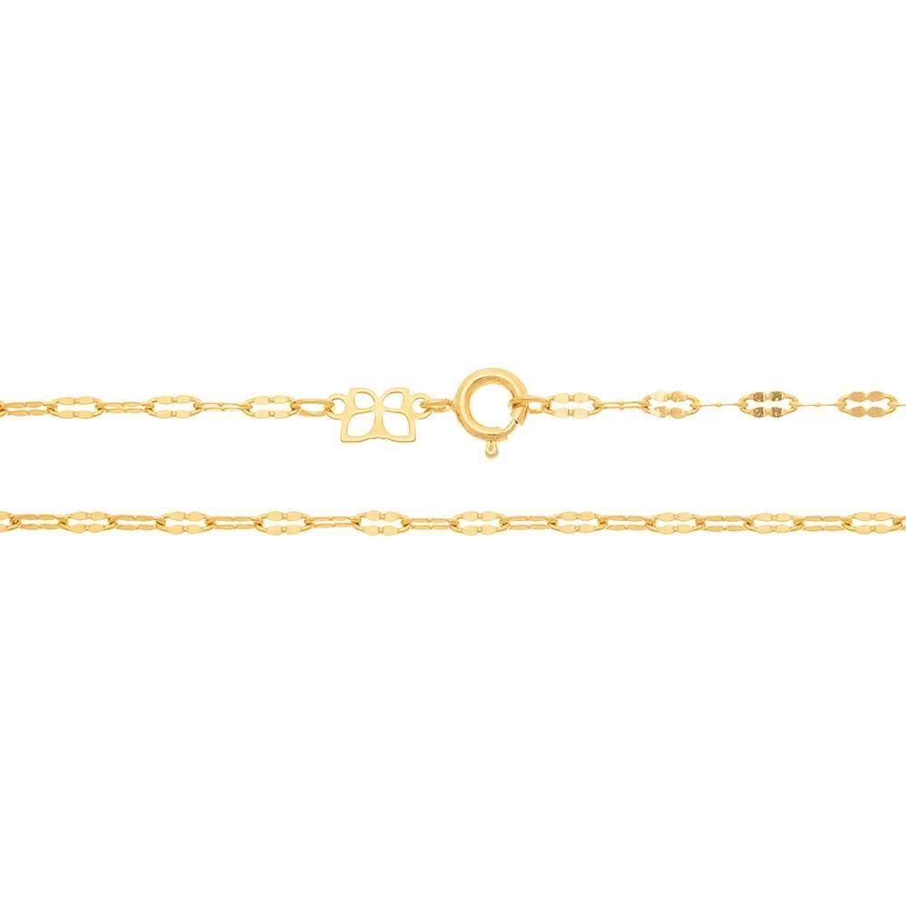 Gargantilha folheada a ouro rommanel 531297 med. 42 cm