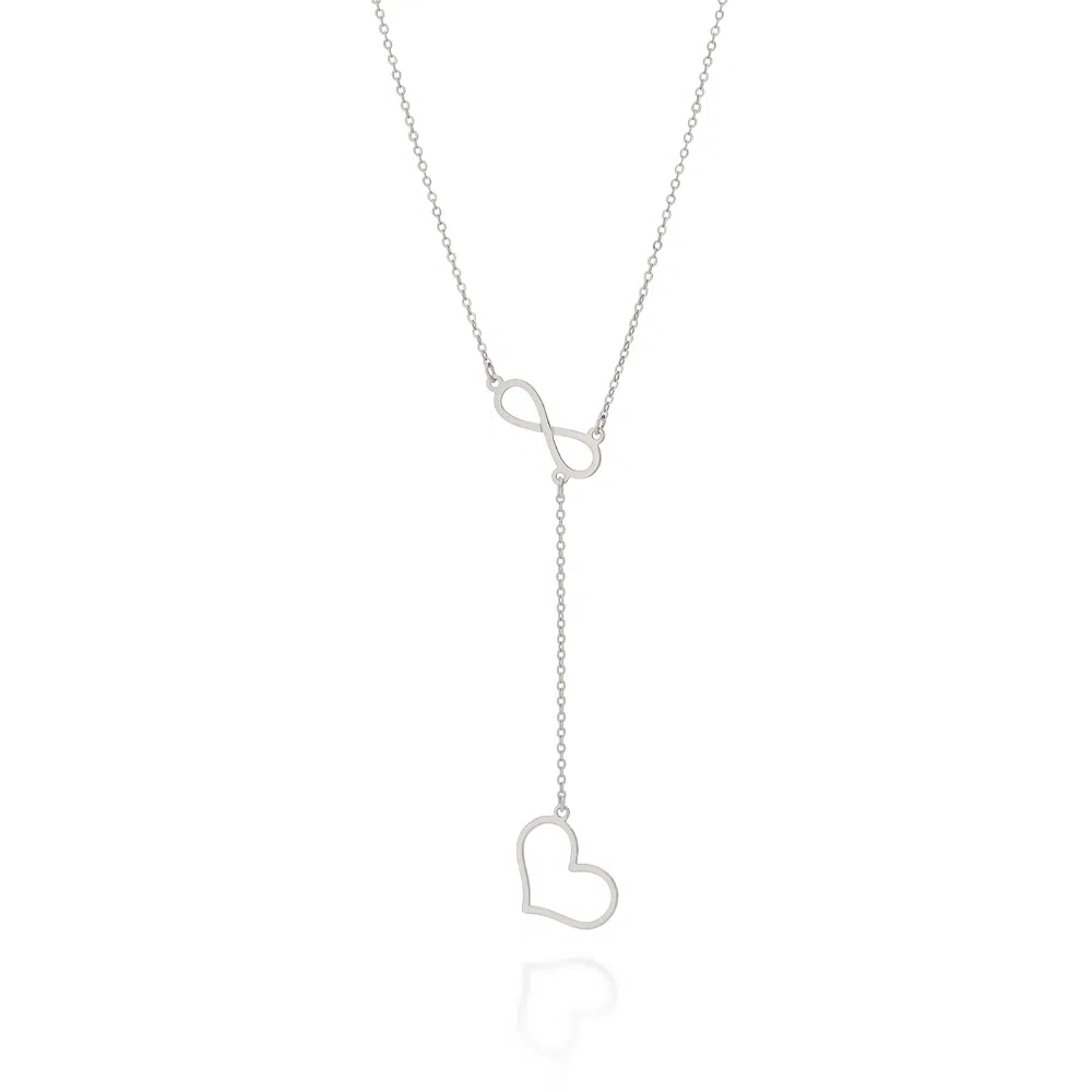 Gargantilha Rommanel  gravata amor eterno folheada a ouro 532068  tam.45 cm
