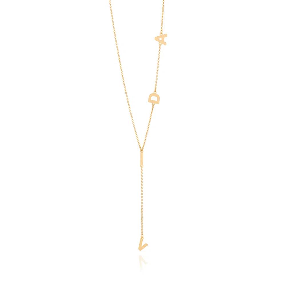 Gargantilha Rommanel gravata vida folheada a ouro 532060  tam.50 cm