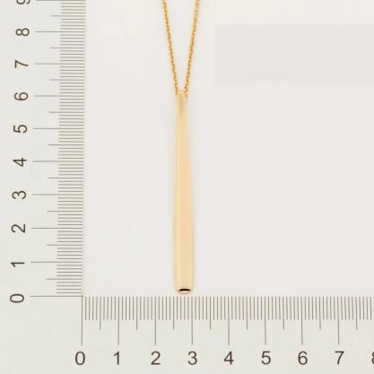 Gargantilha Rommanel com pingente gota folheada a ouro 532093