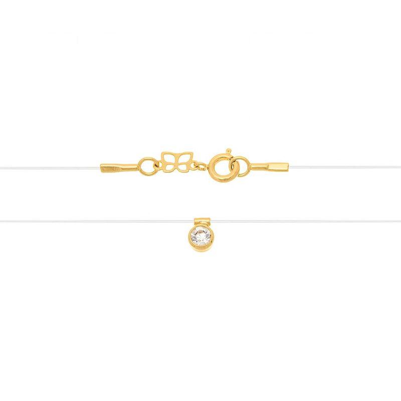 Gargantilha Rommanel  fio de nylon com cristal 531837