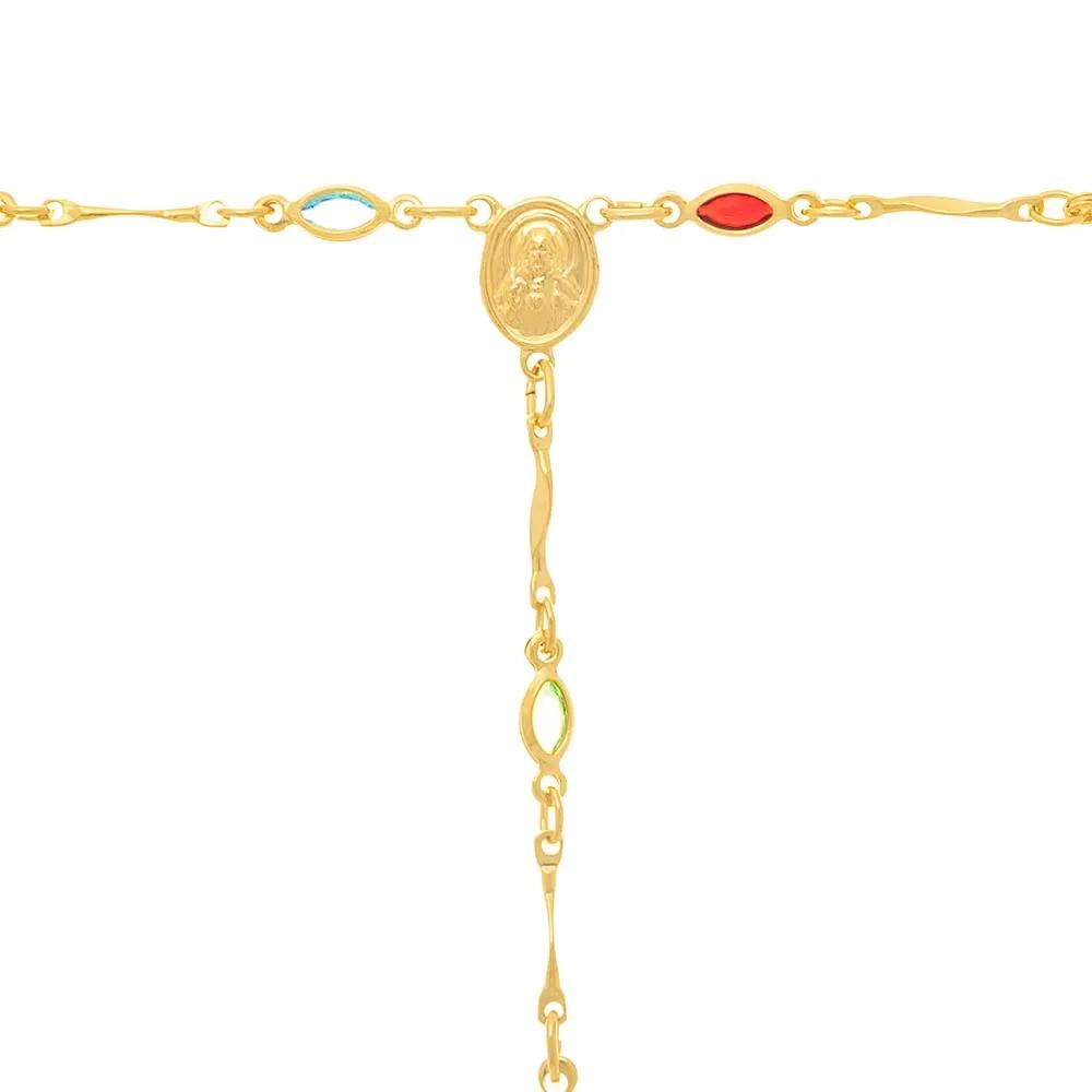 Gargantilha terço feminino rommanel 530829 med. 46 cm