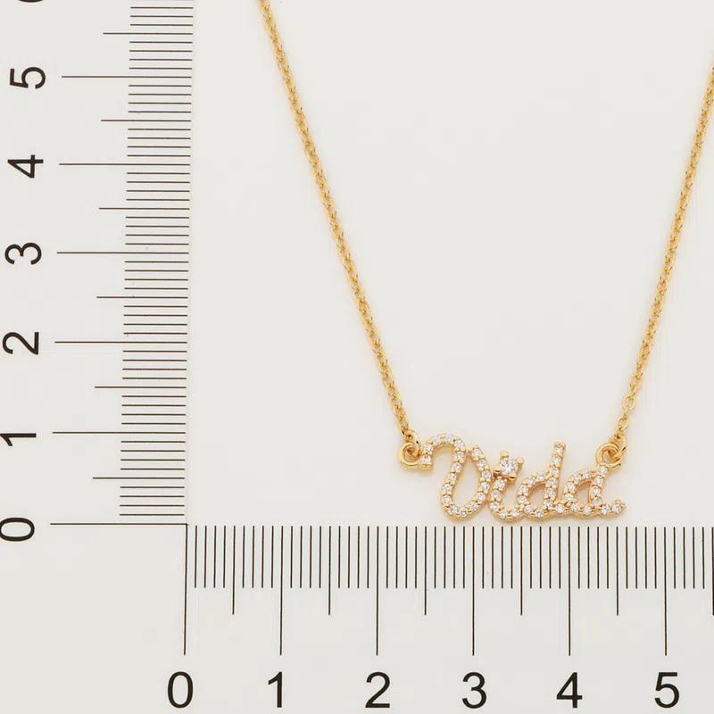 Gargantilha Rommanel Vida folheada a ouro 532080  tam.45 cm