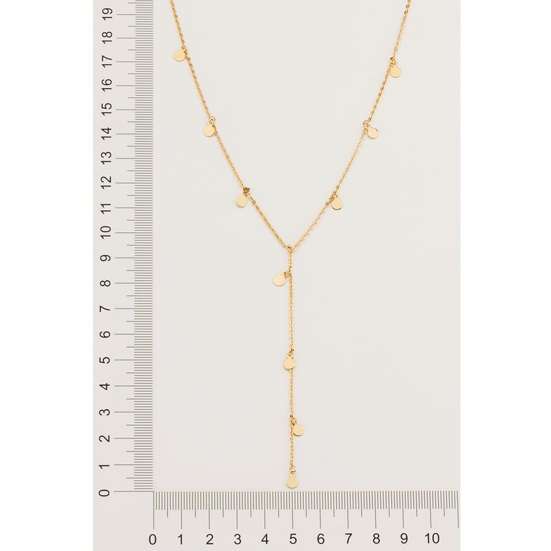 Gargantilha rommanel gravata folheada a ouro 532054 60 cm
