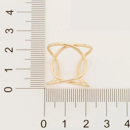Maxi anel Rommanel ajustável folheado a ouro 512919