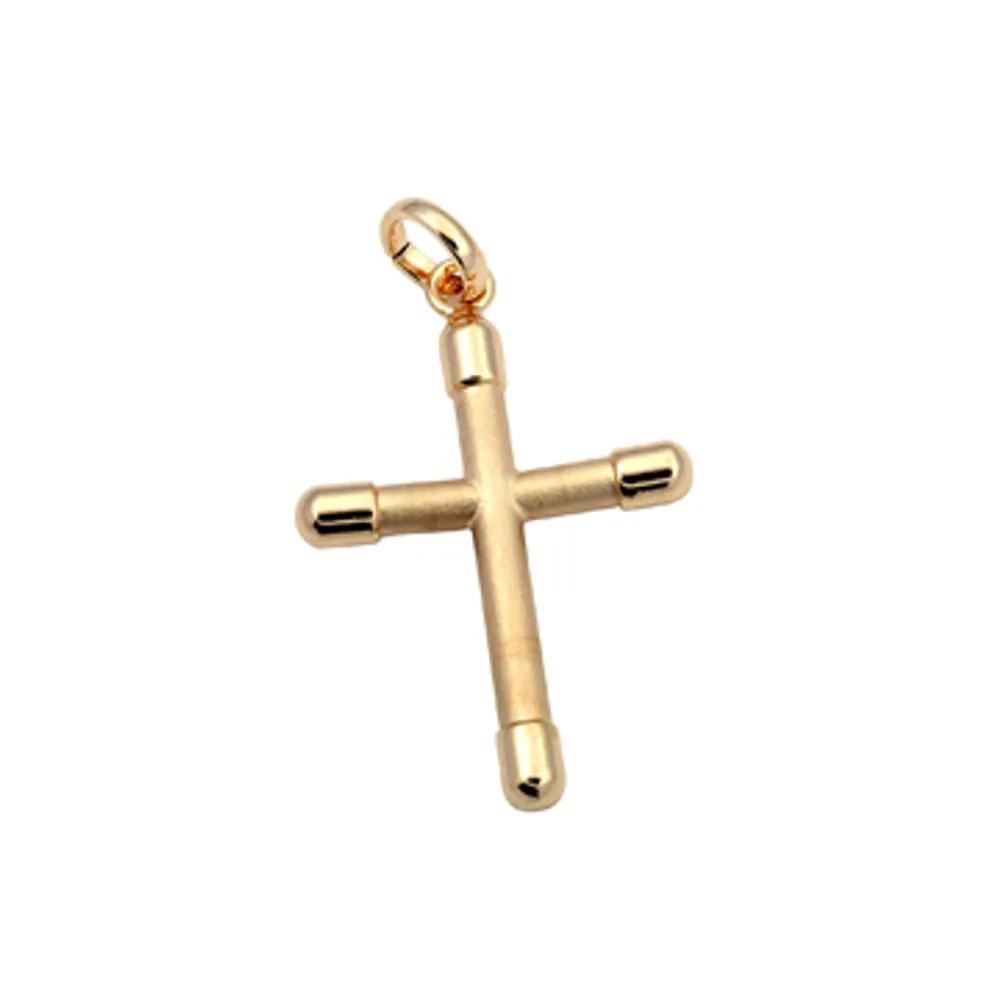 Pingente Rommanel 540551 crucifixo med. 3,1 x 2,9 cm