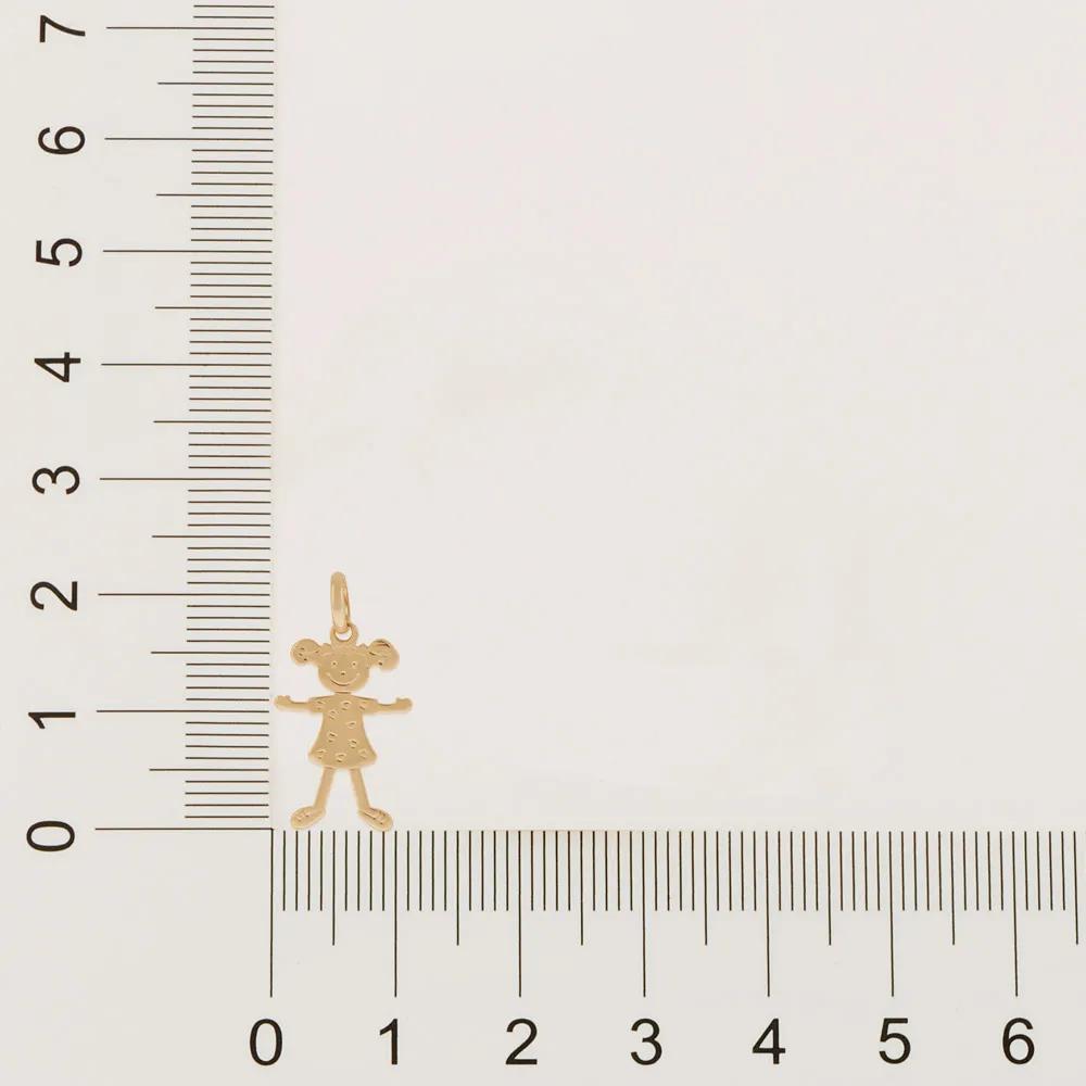 Pingente feminino rommanel 540861 menina med. 1,90 cm