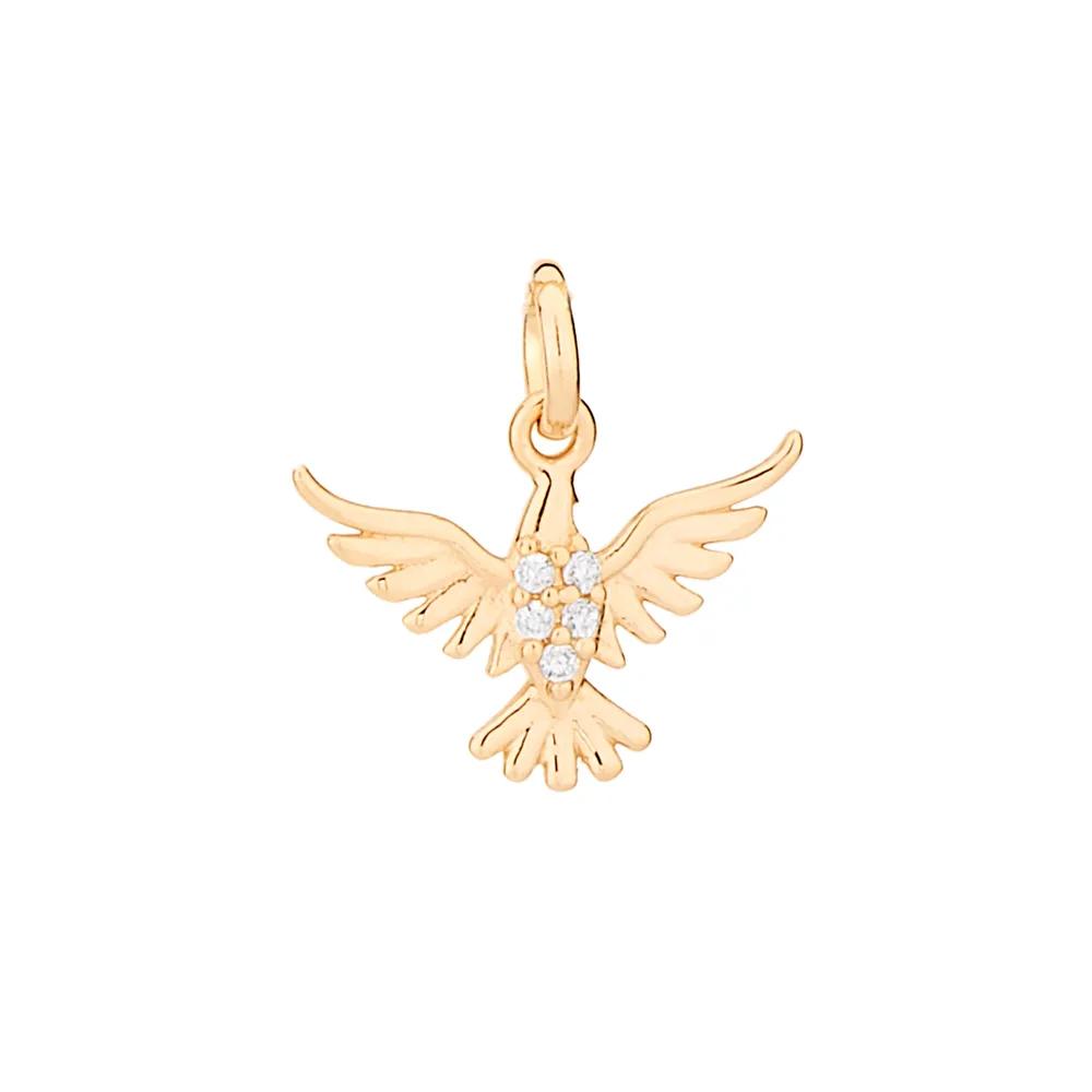 Pingente Rommanel 542138 divino espírito santo com zircônias med. 1,5 x 1,6 cm