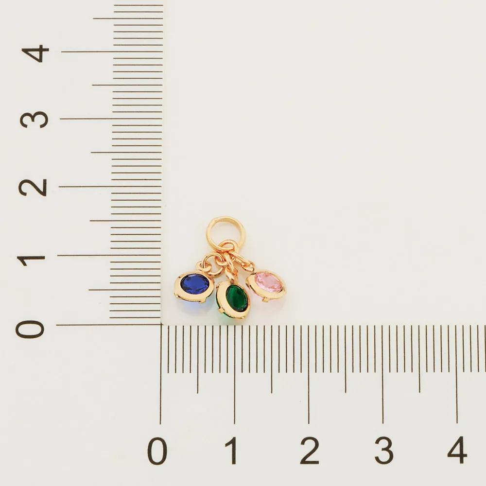Pingente Rommanel 542273 com zircônias med. 1,5 x 1,60 cm