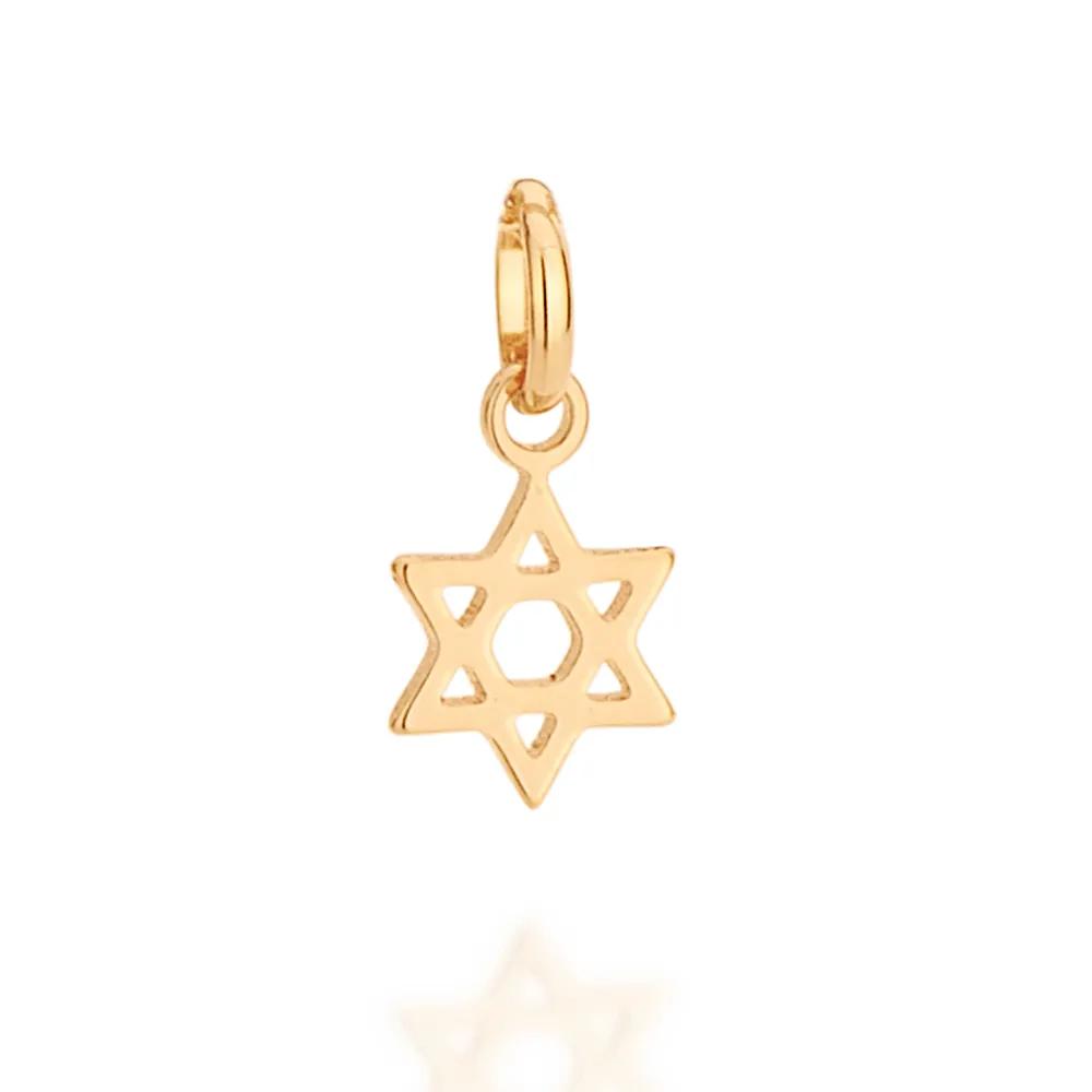 Pingente Rommanel infantil estrela de davi 542213 med. 1,5 x 0,7 cm
