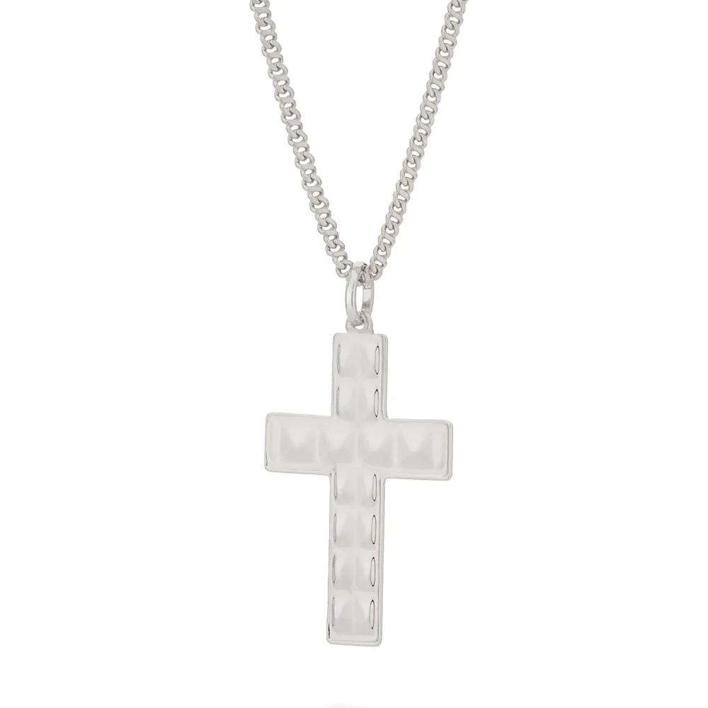 Pingente rommanel 140817 cruz em rhodium med.4,5 x 2,4 cm