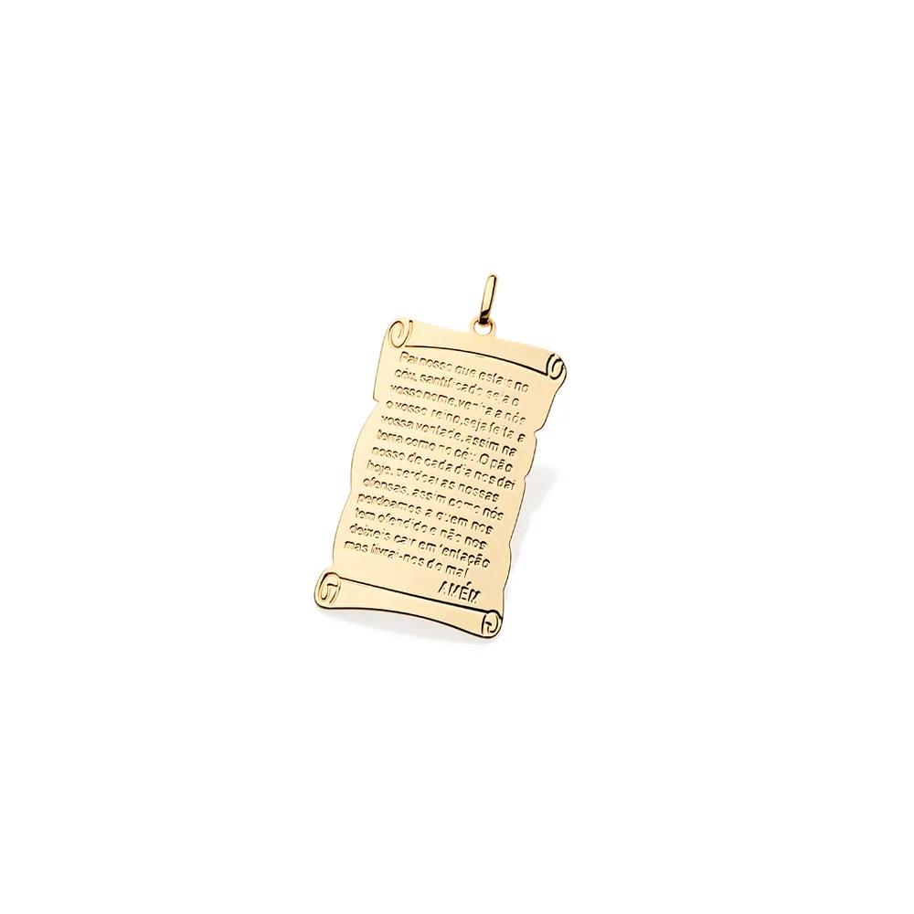 Pingente Rommanel 541528 escrita pai nosso med.3,0 cm