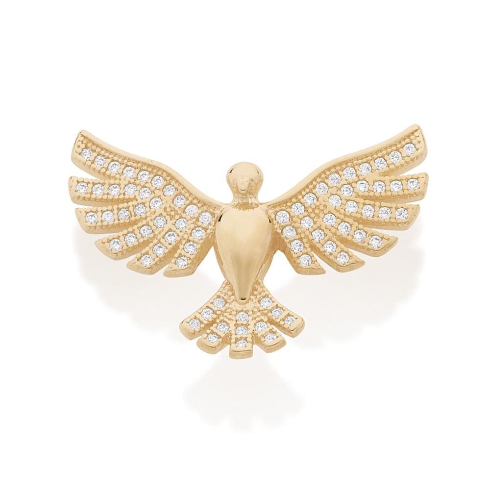 Pingente Rommanel 542156 Divino Espírito Santo Folheado a Ouro