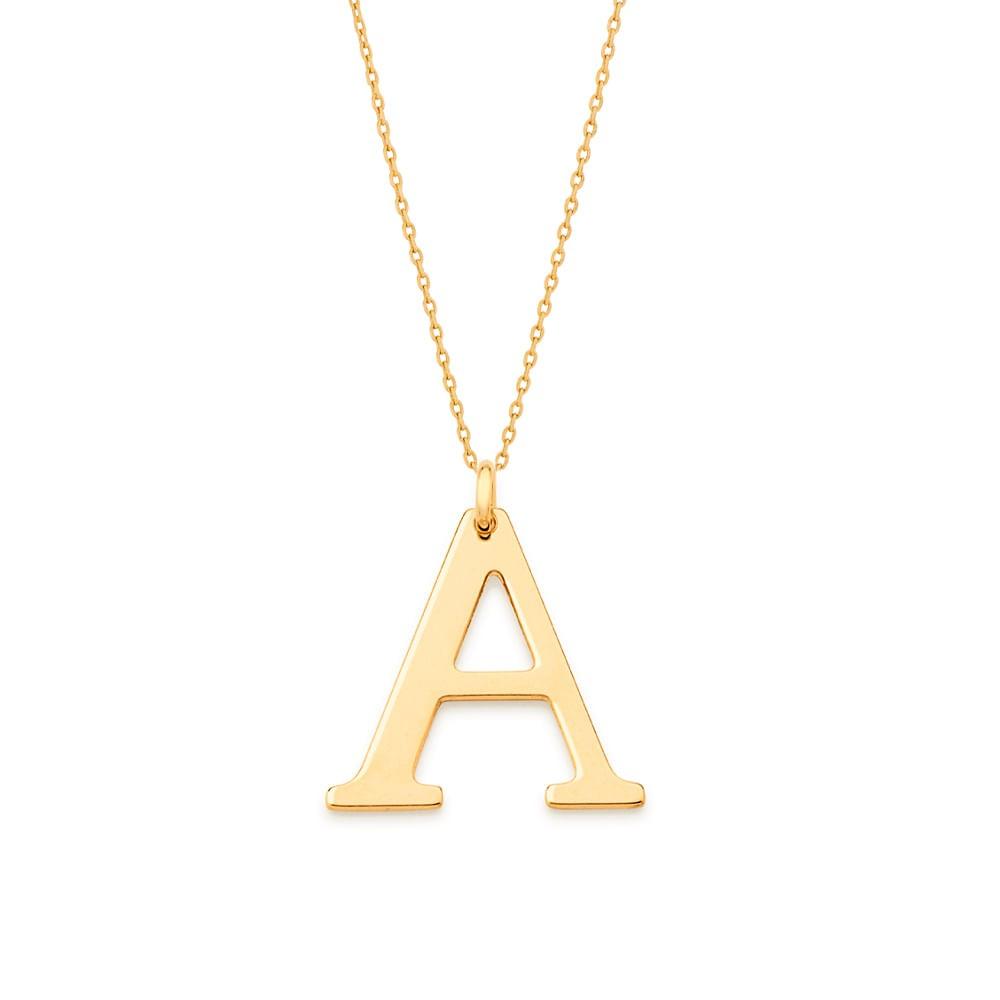 """Pingente Rommanel 542323 Letra """" A """" Folheado a Ouro"""