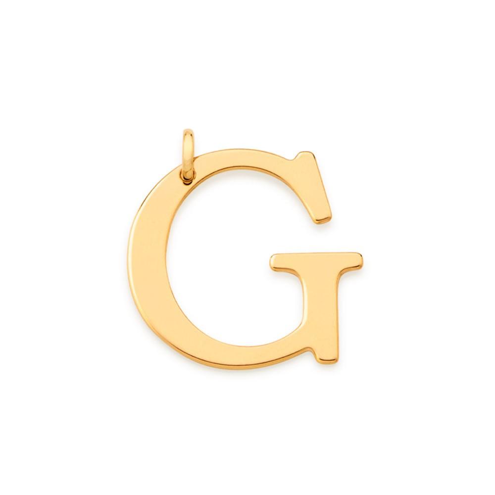 """Pingente Rommanel 542323 Letra """" G """" Folheado a Ouro"""
