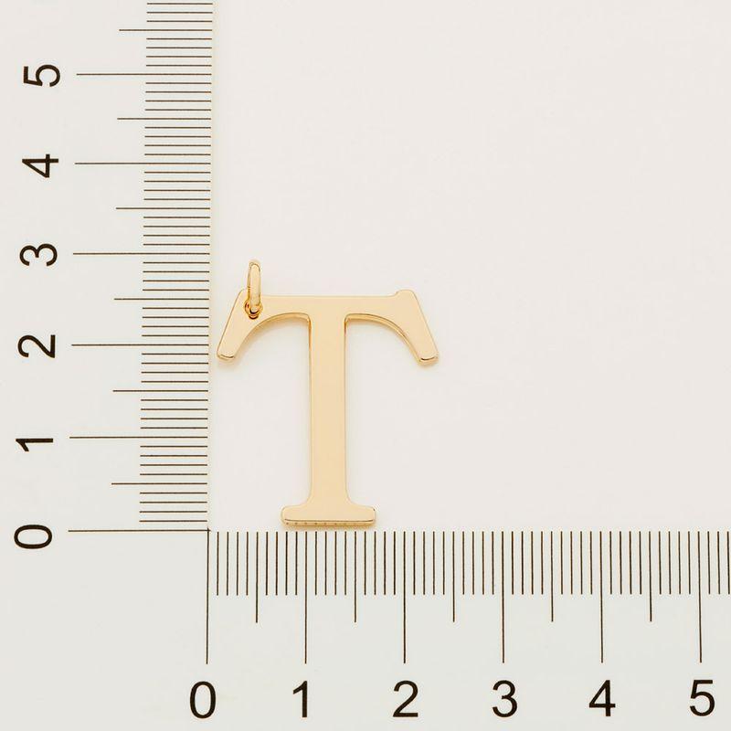 "Pingente Rommanel 542323 Letra "" T "" Folheado a Ouro"