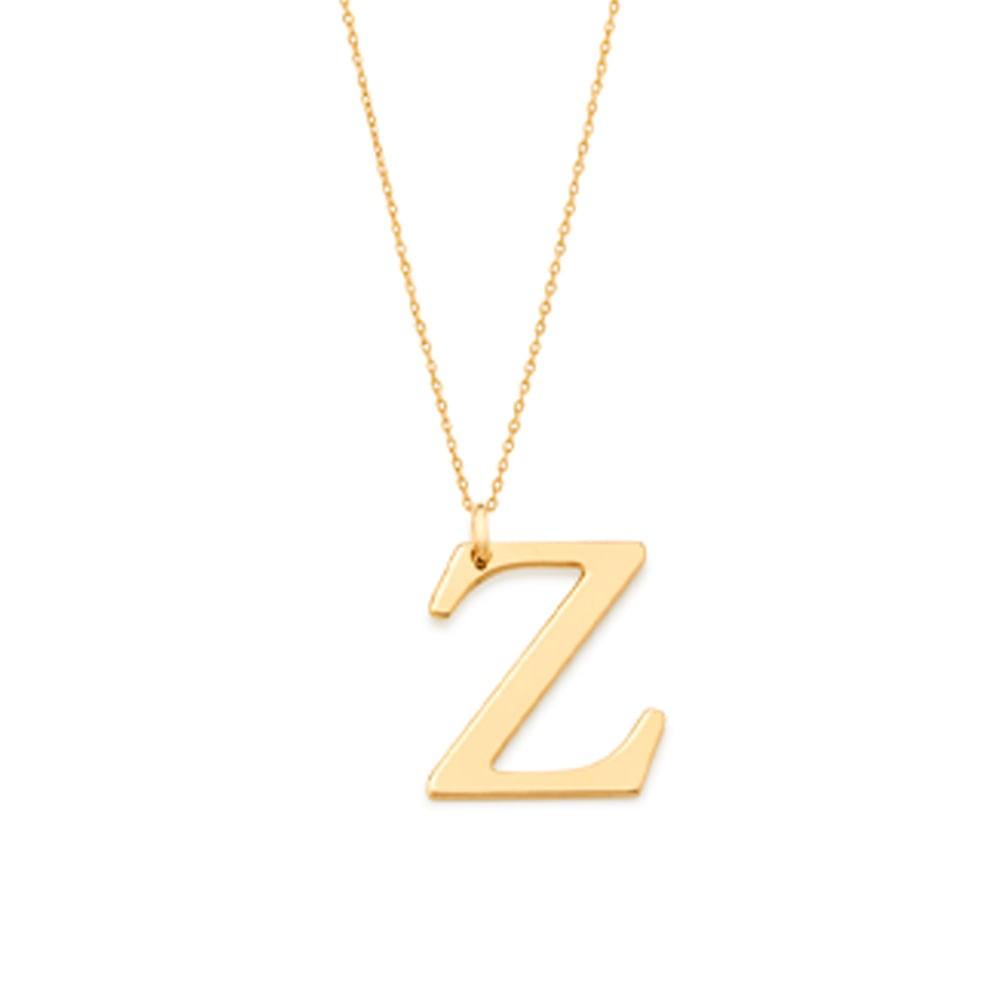 """Pingente Rommanel 542323 Letra """" Z """" Folheado a Ouro"""