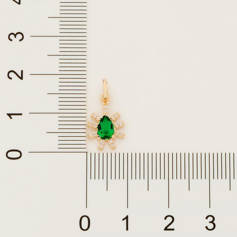 Pingente Rommanel 542366 Gota com zircônias e cristal