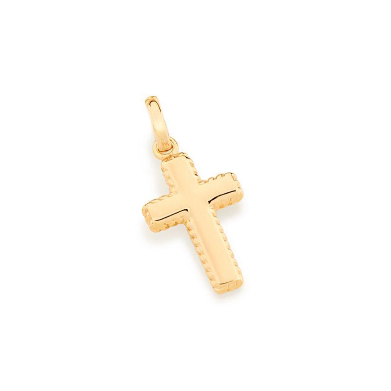 Pingente Rommanel 542367 Cruz folheado a Ouro