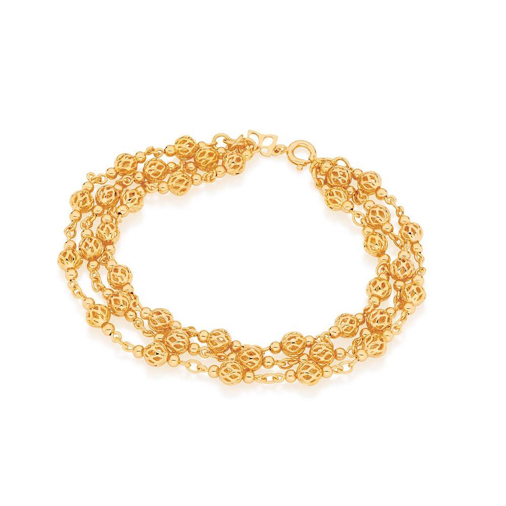 Pulseira Rommanel 550814 com Globos folheada a ouro