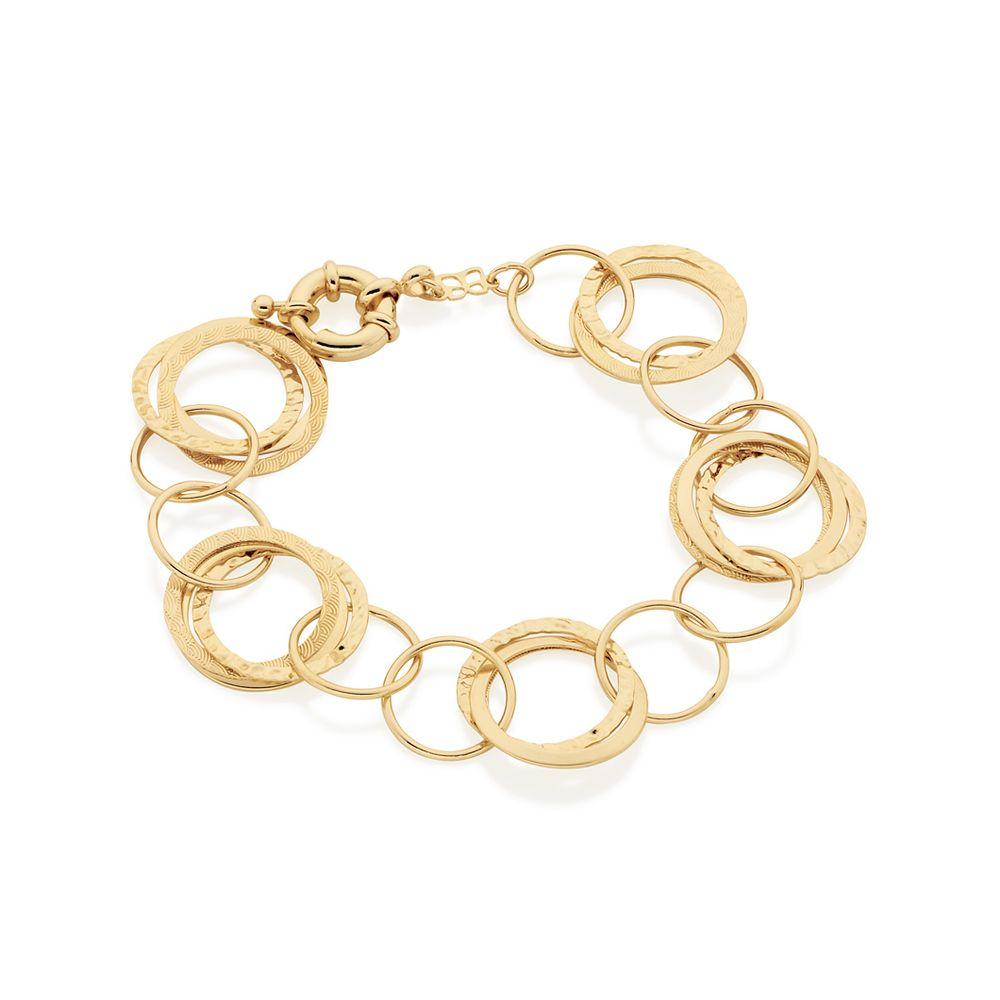 Pulseira Rommanel 550788 Círculos folheada a ouro