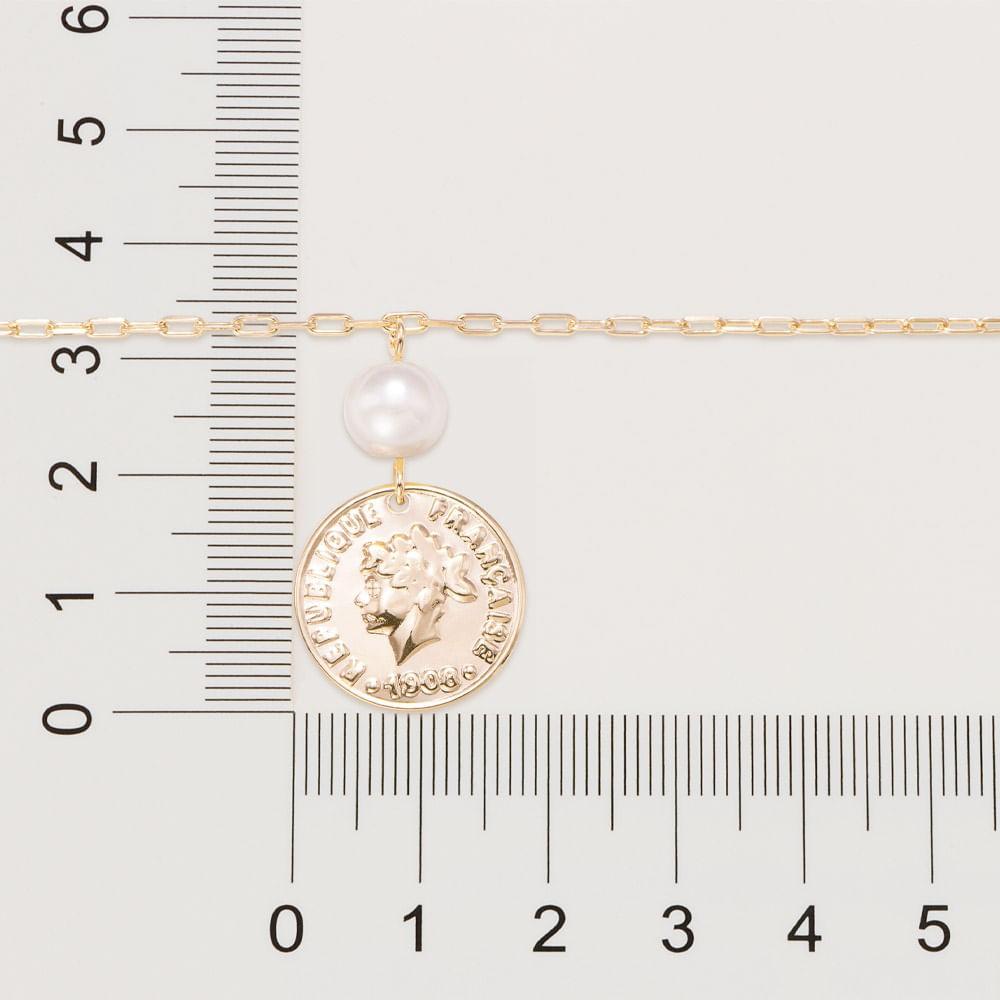 Pulseira Rommanel república francesa 1908 folheada a ouro 551695 med. 19 cm