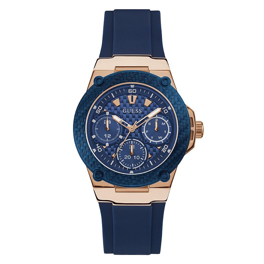 Relógio Feminino Guess Pulseira de Esportivo Azul Fundo Azul 92684LPGSRU1