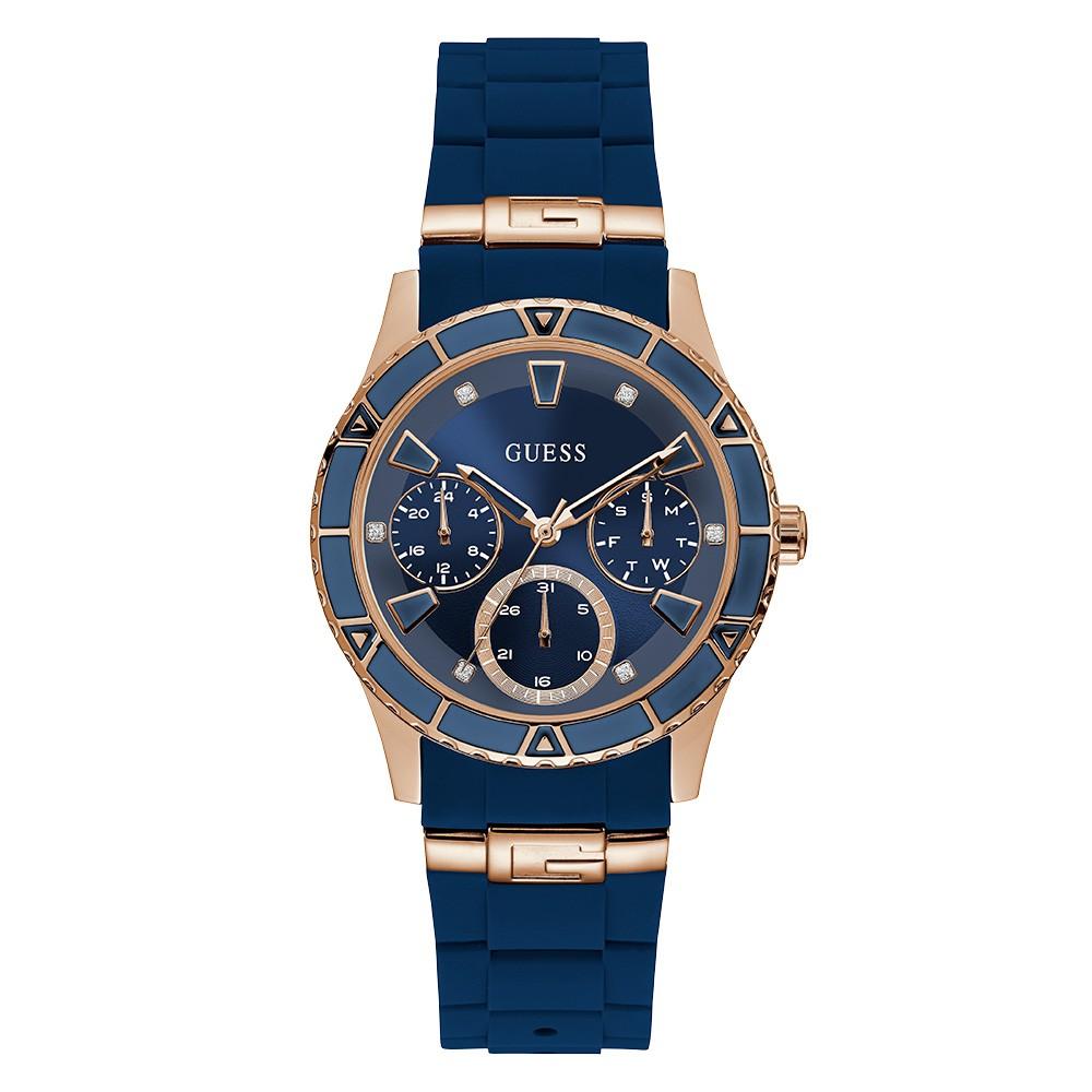 Relógio Feminino Guess Pulseira de Esportivo Azul Fundo Azul 92719LPGSRU3