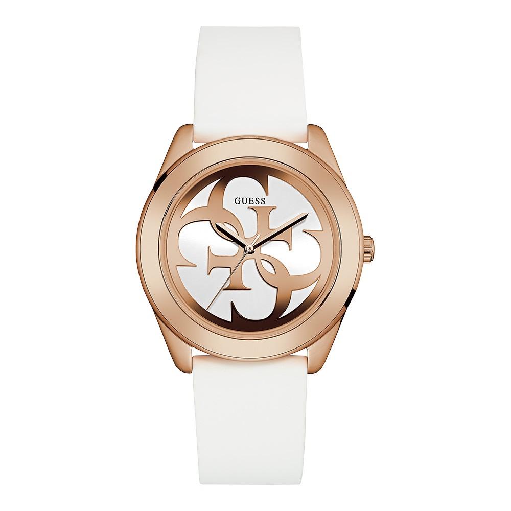 Relógio Feminino Guess Watches Pulseira de Esportivo Branco Fundo Branco