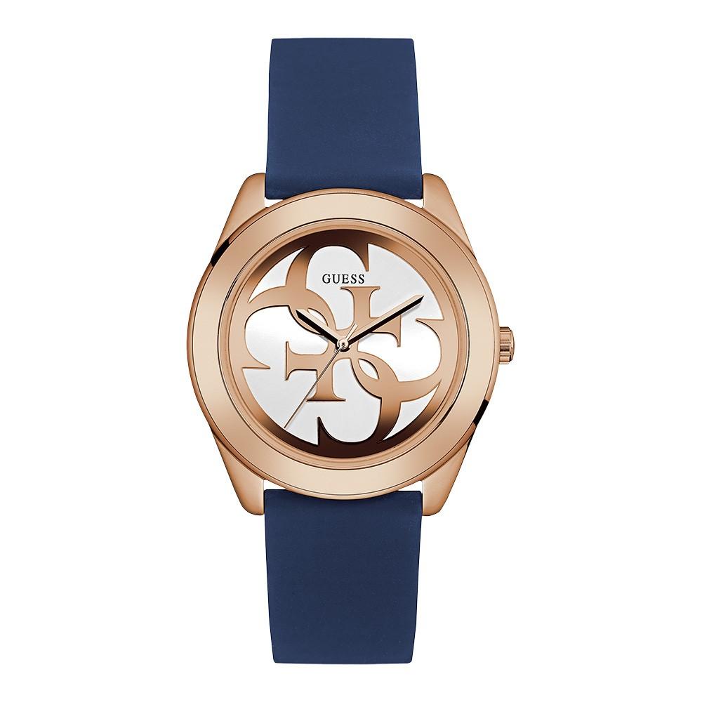 Relógio Feminino Guess Watches Pulseira de Esportivo Azul Fundo Branco