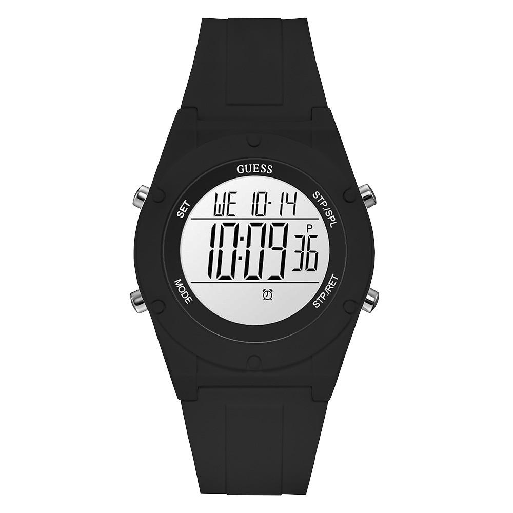 Relógio Feminino Guess Pulseira de Esportivo Preto Fundo Lcd Positivo 92761L0GTNP1