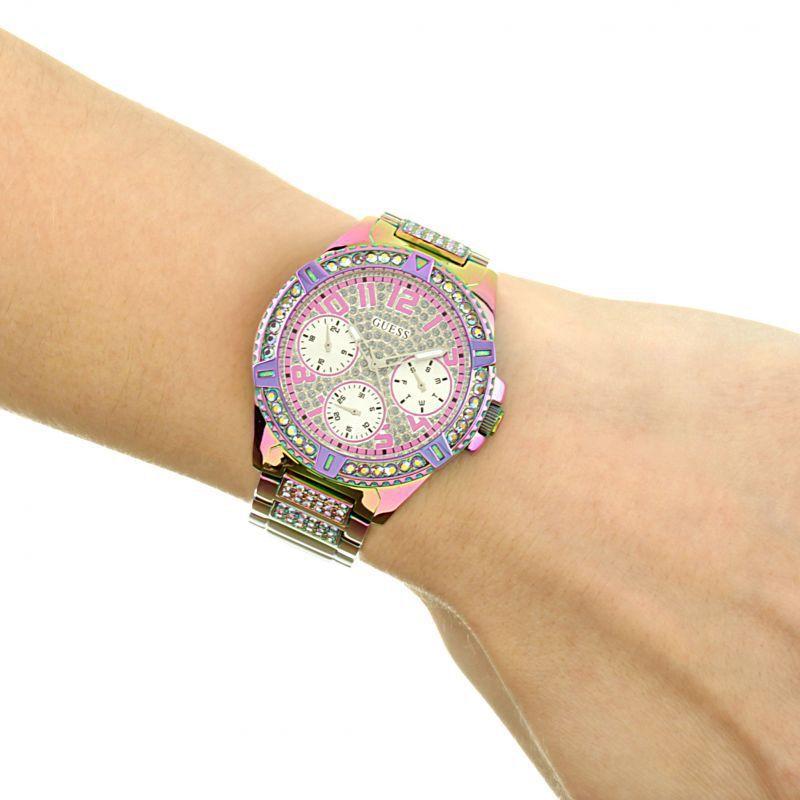 Relógio Feminino Guess Lilás Aço GW0044L1 Ladies Dress