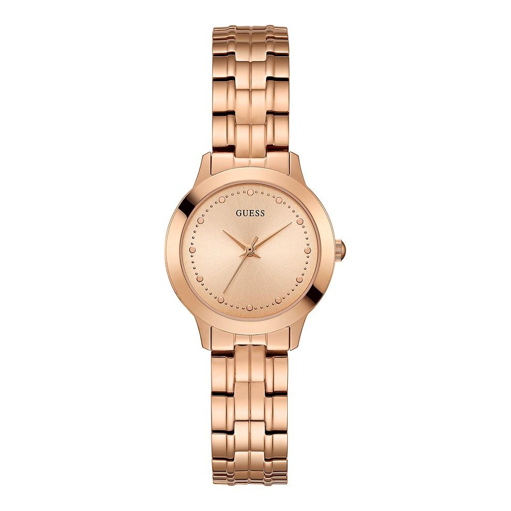 Relógio Feminino Guess Pulseira de Aço Rose Gold Fundo Rose Gold 92650LPGDRA3