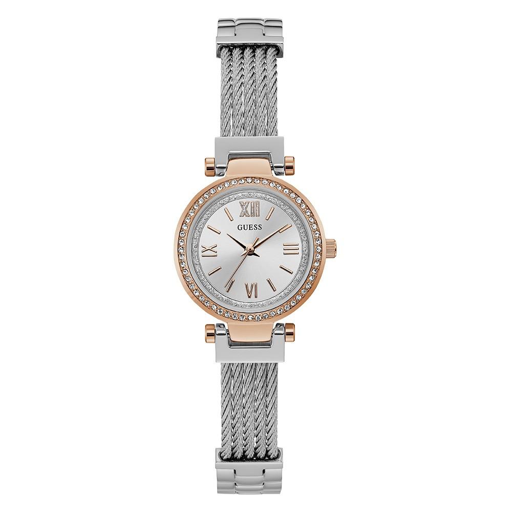 Relógio Feminino Guess Pulseira de Aço Prata Fundo Prata 92665LPGDGA4