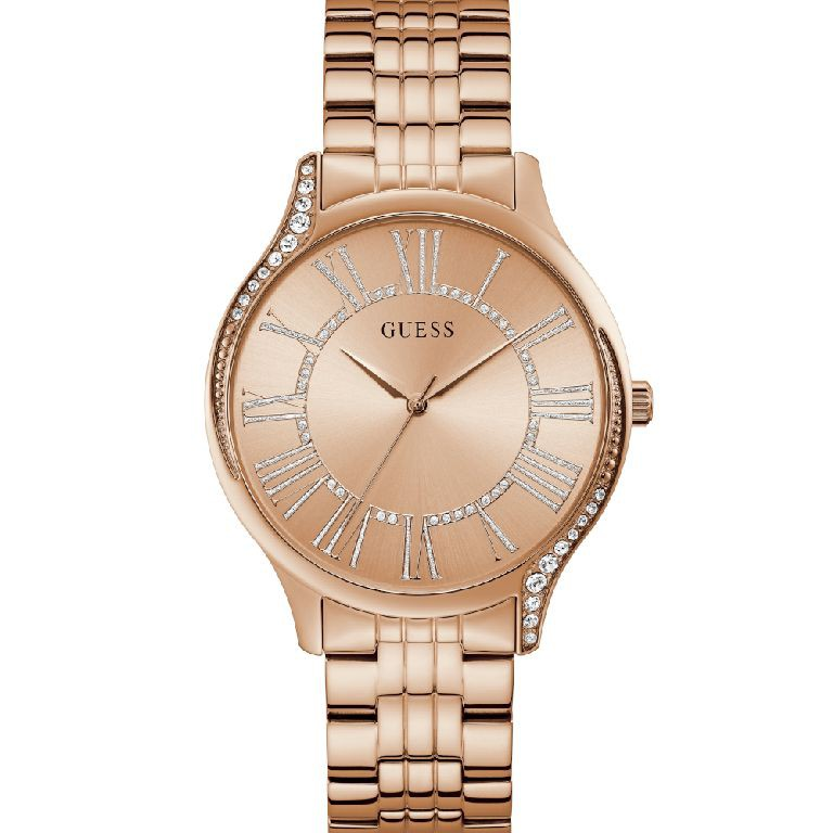 Relógio Feminino Guess Pulseira de Aço Rose Gold Fundo Rose Gold GW0024L3