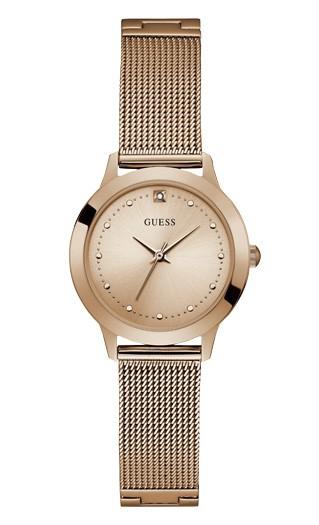 Relógio Feminino Guess Pulseira de Aço Rose Gold Fundo Rose Gold W1197L6