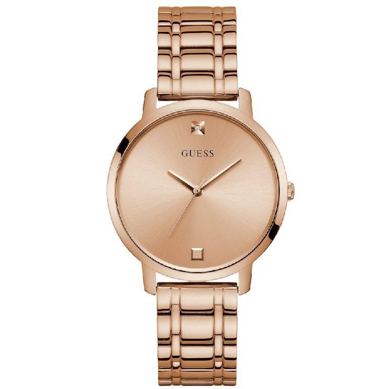Relógio Feminino Guess Pulseira de Aço Rose Gold Fundo Rose Gold W1313L3