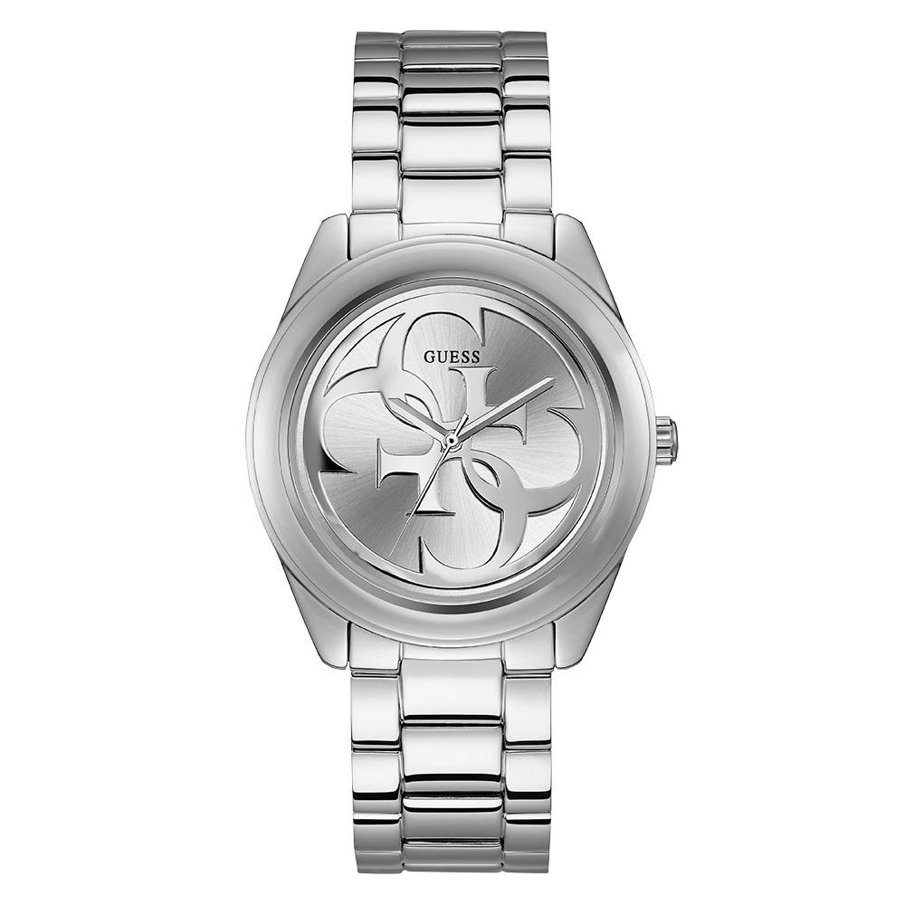 Relógio Feminino Guess Pulseira de Aço Prata Fundo Prata 92628L0GTNA7
