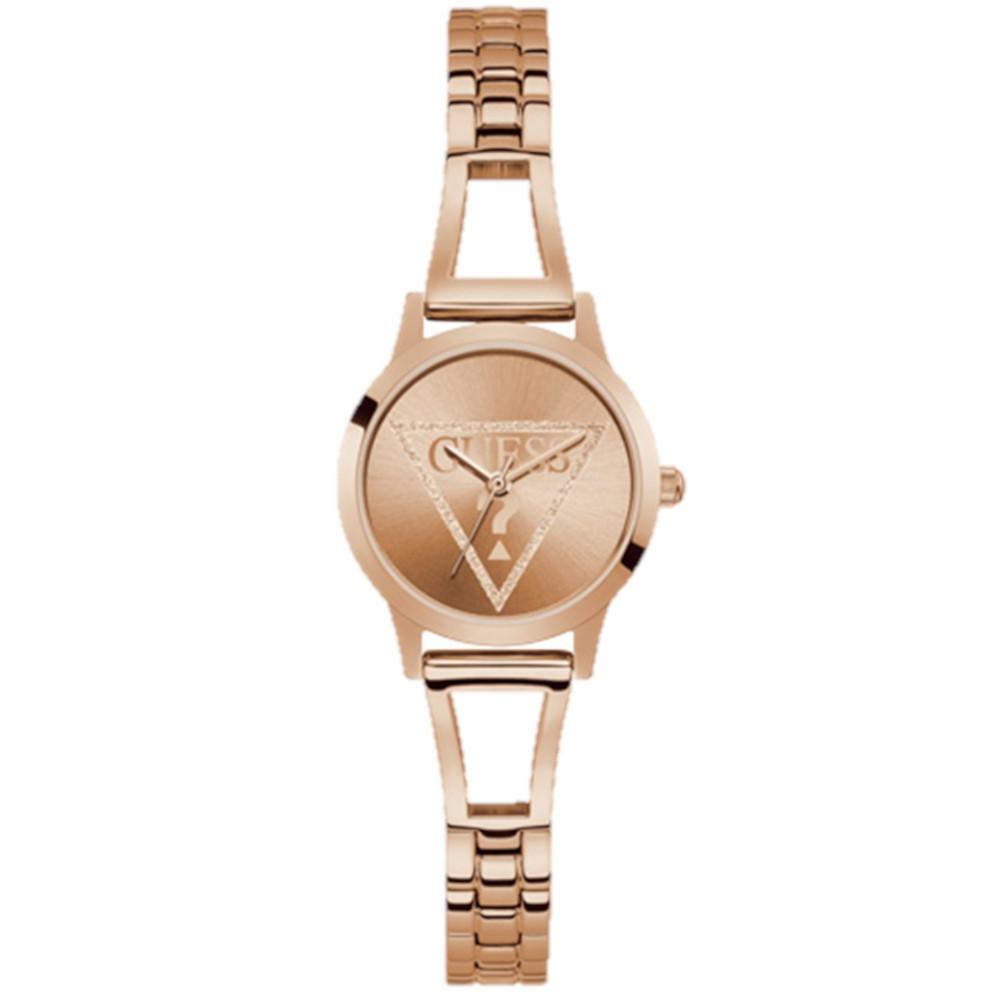 Relógio Feminino Guess Pulseira de Aço Rose Gold Fundo Rose Gold GW0002L3