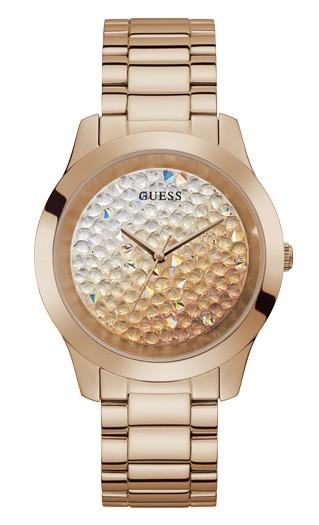 Relógio Feminino Guess Pulseira de Aço Rose Gold Fundo Rose Gold GW0020L3