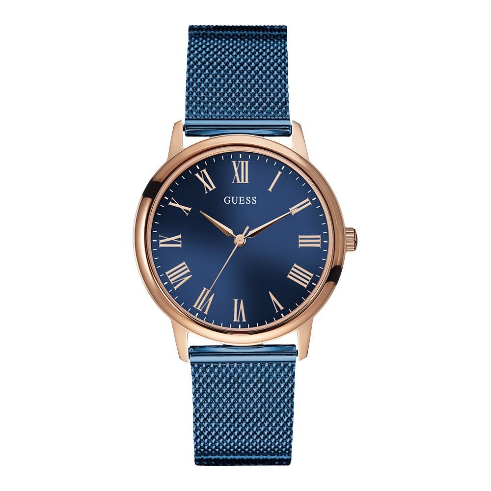 Relógio Feminino Guess Watches Pulseira de Aço Azul Fundo Azul