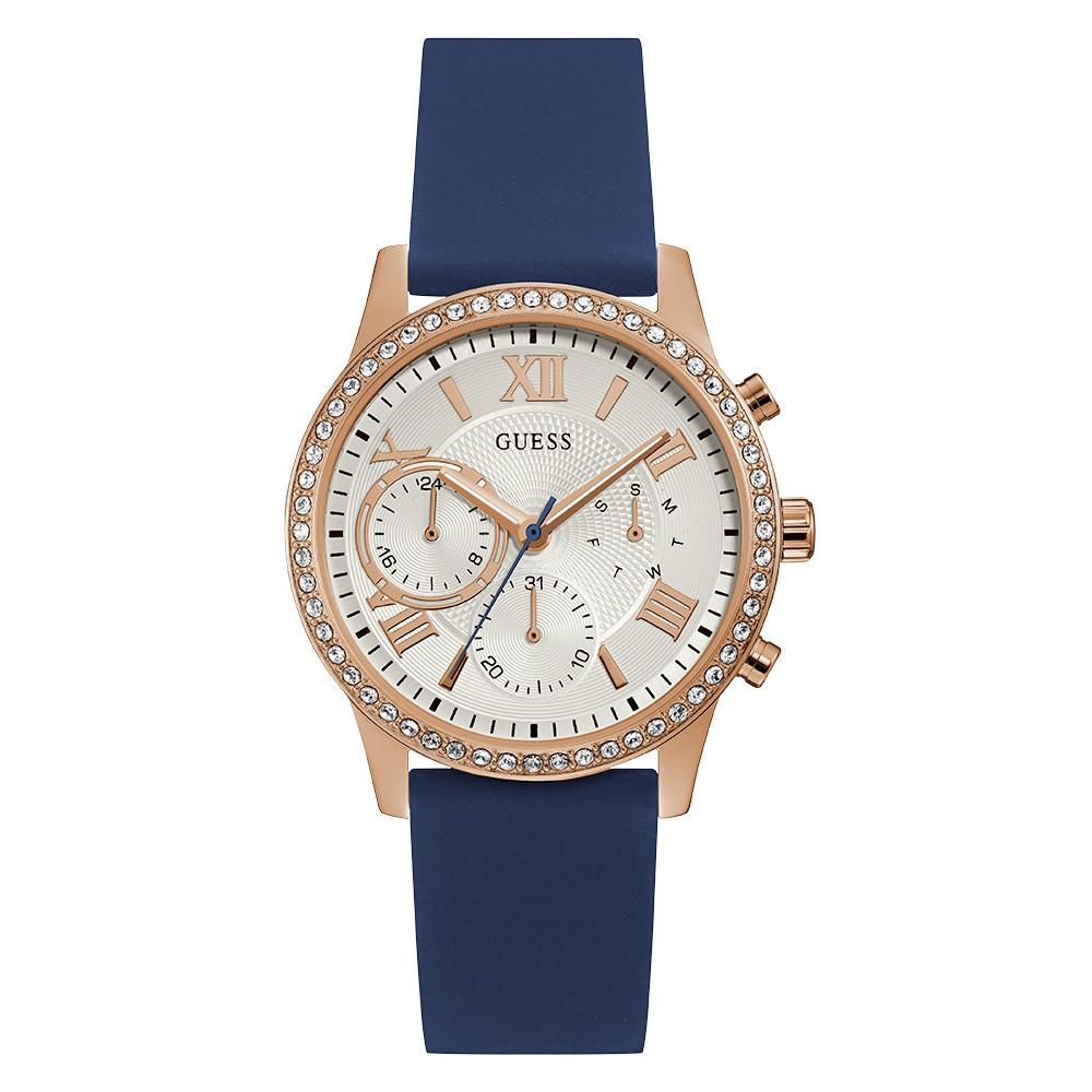 Relógio Feminino Guess Pulseira de Esportivo Azul Fundo Branco 92686LPGDRU8