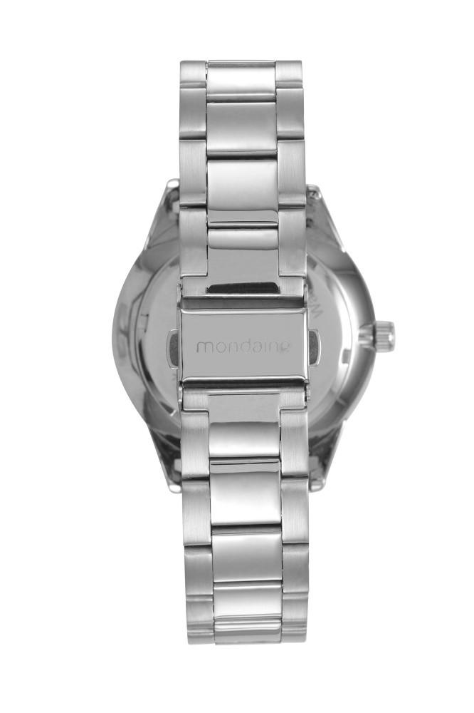 Relógio Feminino Mondaine Pulseira de Aço Inoxidável Prata Fundo Prata 53637L0MVNE3
