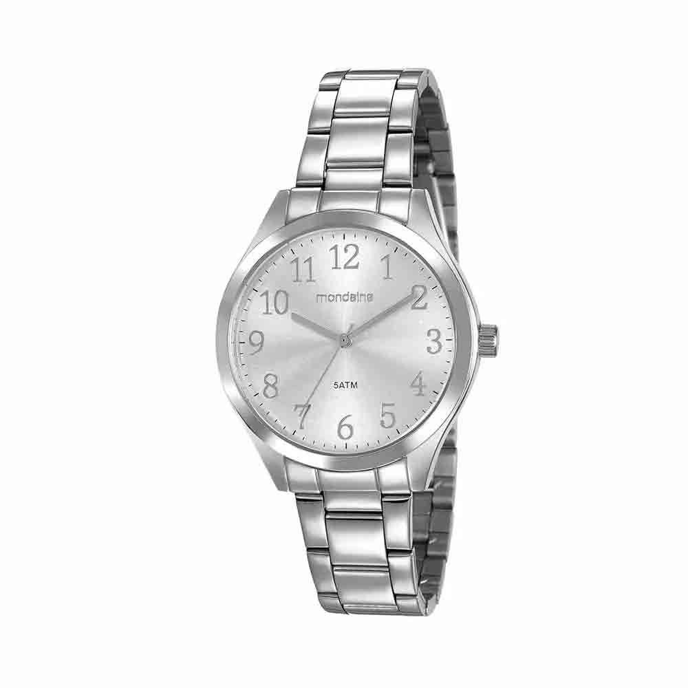 Relógio Feminino Mondaine Pulseira de Aço Inoxidável Prata Fundo Prata 99397L0MVNE4