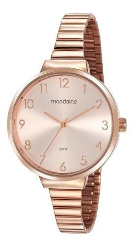 Relógio Feminino Mondaine Pulseira de Aço Inoxidável Rose Gold Fundo Rose Gold 32116LPMVRE2