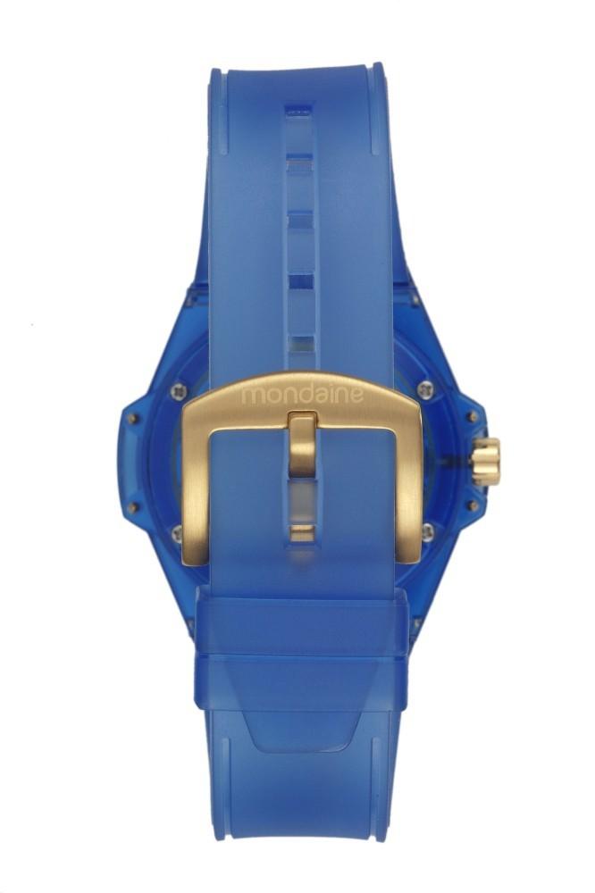 Relógio Feminino Mondaine Pulseira de Poliuretano Azul Fundo Azul 99379LPMVNP1