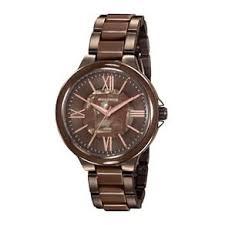 Relógio Feminino Mondaine Pulseira de Resina Marrom Fundo Marrom 76734LPMVME3