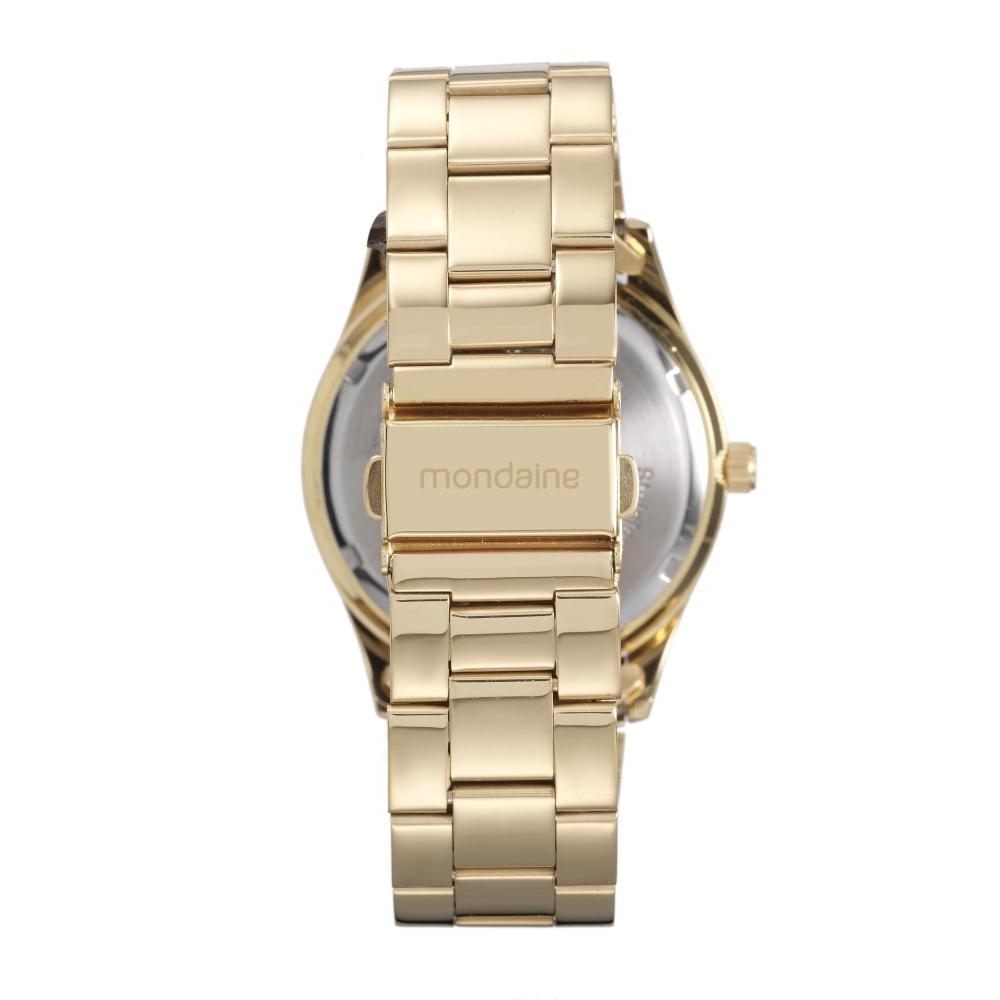 Relógio Feminino Mondaine Visor Azul Dourado 76596lpmvde2