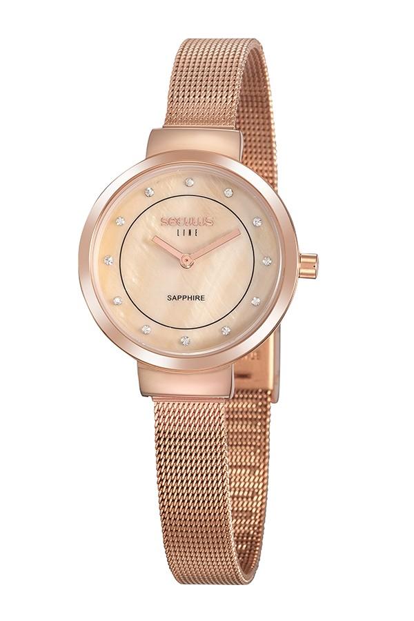 Relógio Feminino Seculus Pulseira de Aço Rose Gold Fundo Rose Gold 20878LPSVRS2